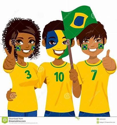 Clipart Fans Team Fan Soccer Brazilian Brazil