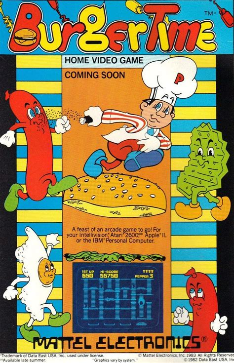 Shilling Epilepsy To Mouth Breathers Burger Time 1982