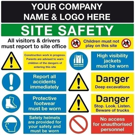 Custom Site Safety Sign  Shop Signs, Sign Maker, Sign. Black Wrangler Jeep Decals. White Wall Mural. Auto Racing Stickers. Able Stickers. Ohshc Signs. Creature Signs. Disability Plates. Bomb Signs Of Stroke