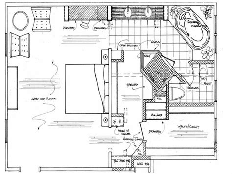 Master Bedroom With Bathroom Floor Plans by Master Bathroom Floor Plans House Plans 14075