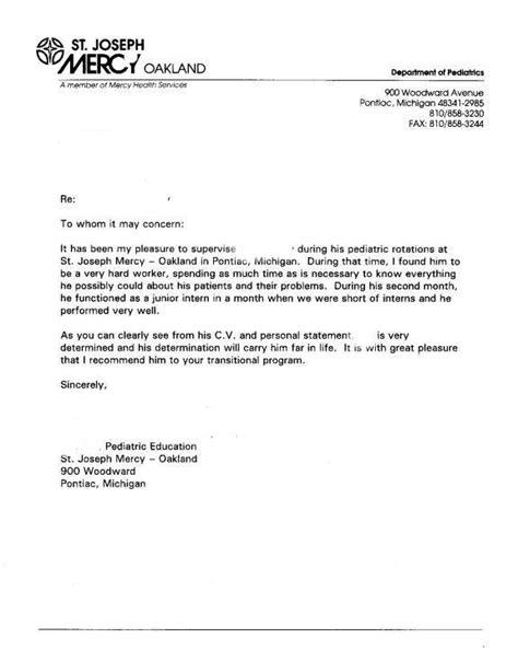 letter  recommendation   reference letter