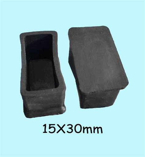 15 30mm table leg cover cap oblong rectangle covering pads