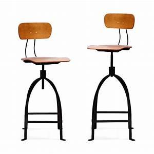 Chaise Bar Reglable : chaise de bar r glable industriel m tal jb pennel by drawer ~ Teatrodelosmanantiales.com Idées de Décoration