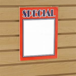 "8.5"" x 11"" Slatwall Acrylic Sign Holder"