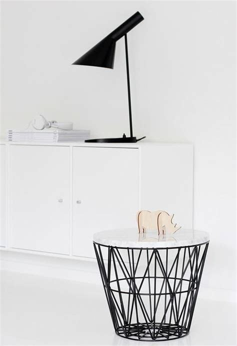 side table with baskets ferm living basket into side table idea diy pinterest