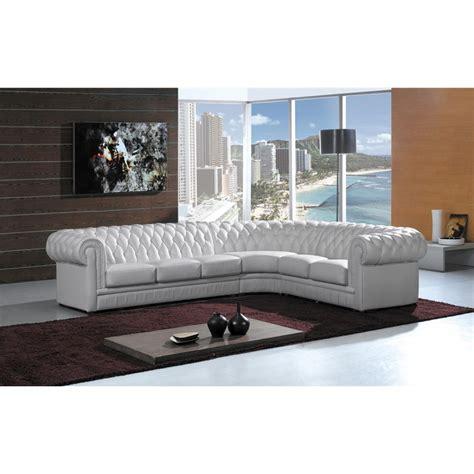 grand canape cuir grand canapé d 39 angle en cuir pleine fleur chesterfield