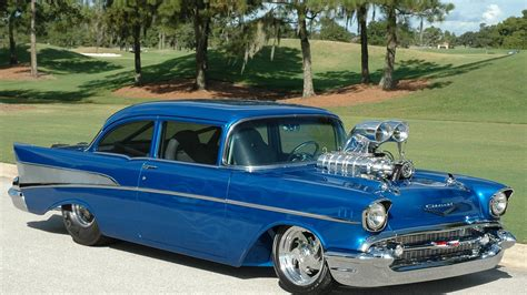 1957 Chevy Bel Air Wallpaper by 1957 Chevrolet Chevy Bel Air Pro Rod Hor
