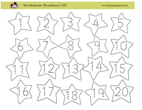 kindergarten worksheets for numbers 293 | Worksheet Writing Numbers 1 20 800 op