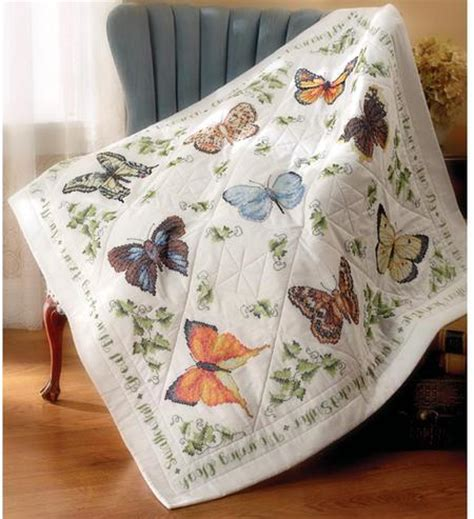 cross stitch quilt kits bucilla butterfly collection quilt sted cross