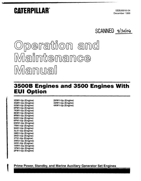 home design generator caterpillar operation and maintenance manual 3500 b engines s