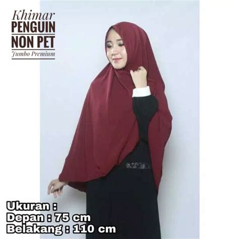 hijab instan khimar penguin  pet jumbo premium terbaru