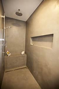 Fugenlose Bodenbeläge Bad : fugenlose dusche mit dracholin cosmato privathaus fugenloses bad pinterest ~ Markanthonyermac.com Haus und Dekorationen