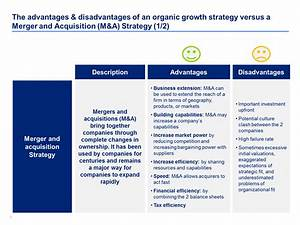 Advantages  U0026 Disadvantages Of An Organic Growth Strategy Versus A Merger And Acquisit U2026
