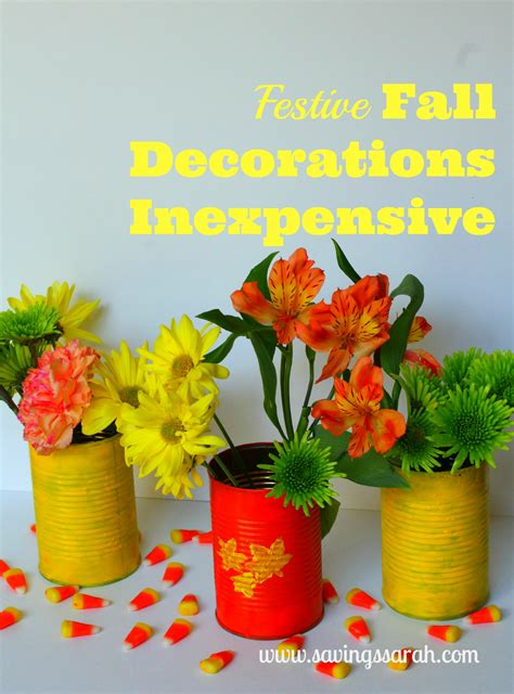 Fun, Festive Fall Decorations That Are Inexpensive