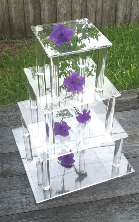 tier square clear acrylic cupcakecake stand