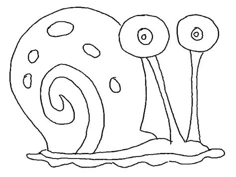 Gary The Snail Outline Coloring Pages