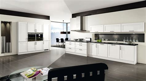 cuisines moderne cuisine blanc brillant 2531 menuiserie dufays