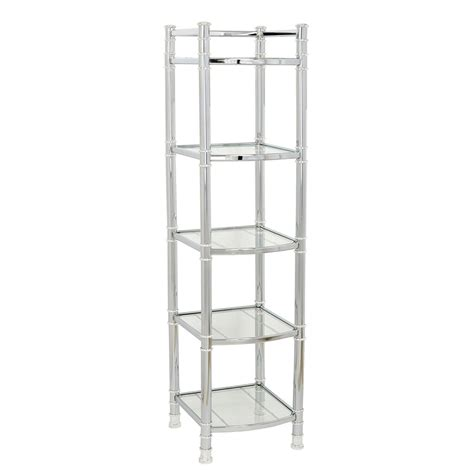 Regal Chrom by Zenna Home 9058ss 5 Tier Bathroom Shelf Linen