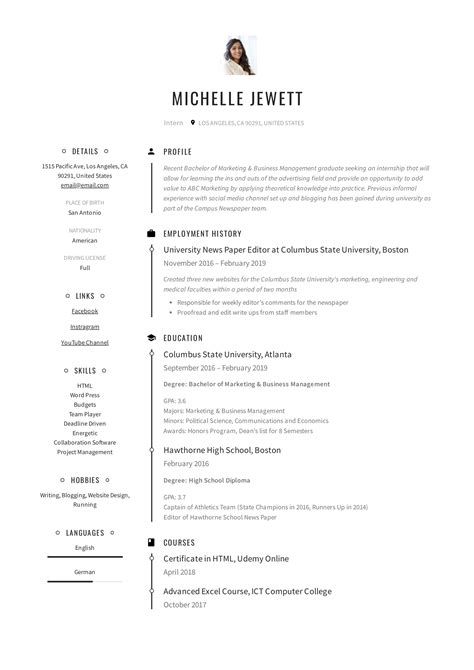 A Resume For A by Intern Resume Writing Guide 12 Sles Pdf 2019