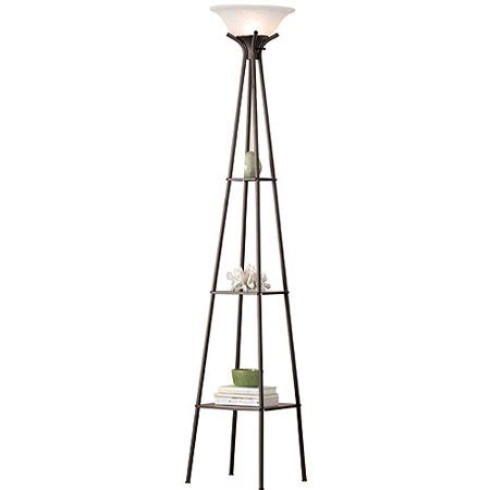 Mainstays Etagere Floor L by Mainstays Etagere Floor L Cfl Bulb Included Walmart