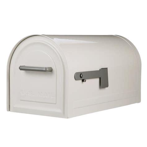 gibraltar mailboxes reliant white locking post mount