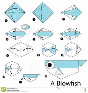 Step By Step Instructions How To Make Origami A Blow Fish ...