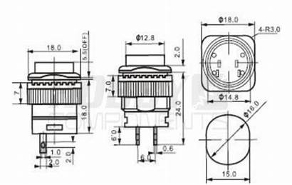 Push Button Switch 16mm Dimensions 504bd R16