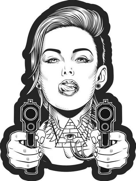 Pin by وحید on gang giril in 2020 | Rockabilly art, Bear