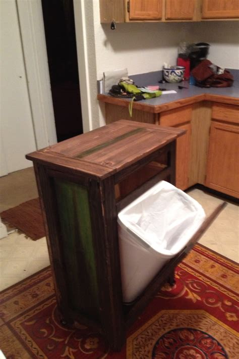 cutting board kitchen island white rolling kitchen island with tilt trashcan and