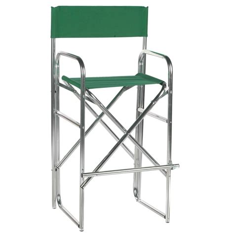 Aluminum Directors Chair Bar Height 30 5 inch aluminum frame bar height directors chair www