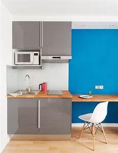 Kitchenette Pour Bureau : un petit studio plein d astuces galerie photos d 39 article ~ Premium-room.com Idées de Décoration