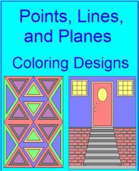 points lines  planes coloring activity tpt