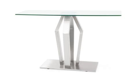 tempered glass  brushed stainless steel aiden console