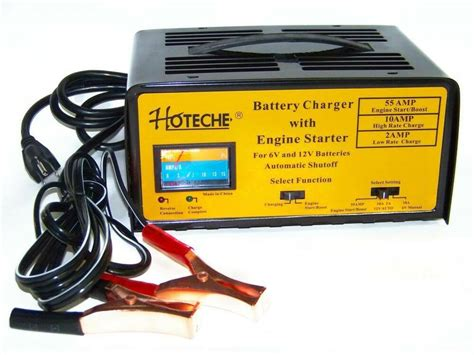 Battery Charger With Engine Starter Jump Start Booster