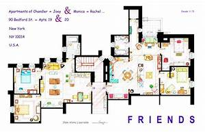 Artist, Draws, Beautiful, Floor, Plans, Of, Famous, Tv, Show, Homes