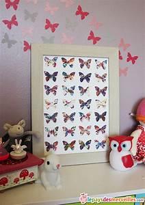 Cadre Deco Enfant : diy un joli cadre papillons avec la recup 39 d 39 une de ses peintures le pays des merveilles ~ Teatrodelosmanantiales.com Idées de Décoration