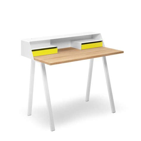 bureau simple blanc bureaux secrétaires bois et métal ps04 ps05 muller