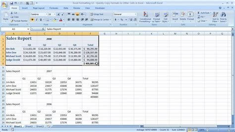 Format Exle excel formatting 12 quickly copy formats to other cells