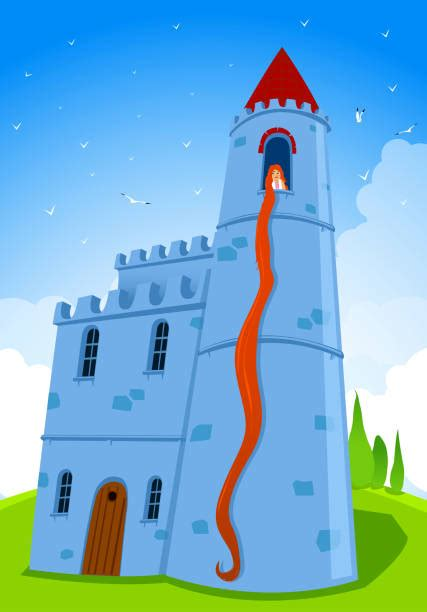 rapunzel tower illustrations royalty  vector
