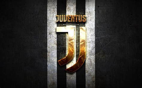 Télécharger fonds d'écran Juventus FC, logo doré, Serie A ...