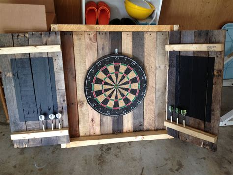 dart board cabinet 21 outrageously smart recycled pallet crafts that you