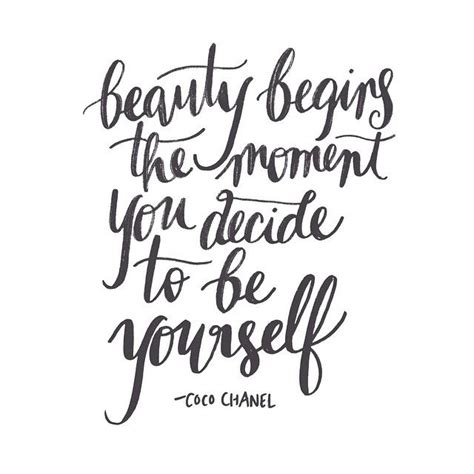 begins the moment you decide to be yourself