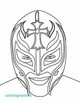 Wwe Mysterio Rey Coloring Wrestling Pages Mask Face Drawing Belt Printable Wrestler Sketch Championship Kalisto Misterio Sheets Drawings Ray Birthday sketch template