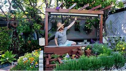 Outdoor Screen Theater Garden Build Down Pull