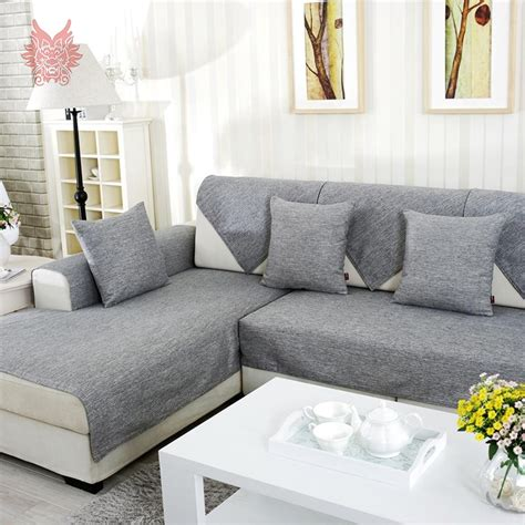 Sofa Protector For Sectional by Aliexpress Buy Grey Melange Sofa Cover Slipcovers