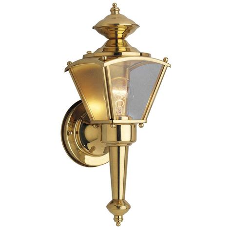 westinghouse   light polished solid brass wall