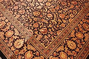 Teppich Schwarz Gold : perserteppich gom seidenteppich 200x200 cm schwarz gold ebay ~ Whattoseeinmadrid.com Haus und Dekorationen
