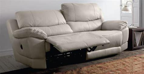 canap relax lectrique gris en cuir 3 places