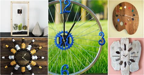 brilliant diy clock ideas  recycled items