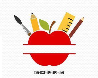 love school teacher svg love school apple pencil svg   etsy teacher craft monogram
